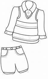 Coloring Boy Pagina Farbtonseite Kleidungs Kleurende Kledings Coloritura Ragazzo Abbigliamento Dell Jungen Kinderen Kinder Illustratie Farbigen Hintergrund Eines sketch template