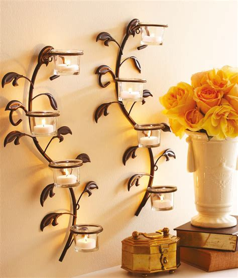 hosley wall sconces glass candle holders