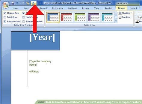 """How To Create A Letterhead In Microsoft Word Using """"cover Pages"""" Feature"""