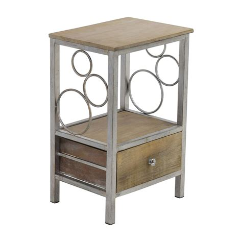 Metal Nightstand by 55 Rustic Wood And Metal Nightstand Tables