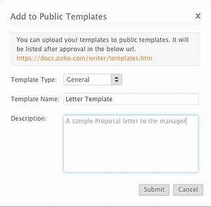 creating and saving a document zoho writer help With upload documents to submit