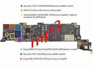 All About Mobiles  Iphone5 Motherboard Layout With Parts