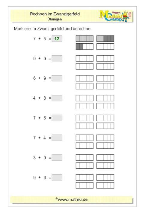 """Klasse als gratis download und zum ausdrucken. Lade Dir das Arbeitsblatt """"Addition im Zwanzigerfeld (Klasse 1)"""" mit Lösungen noch heute ..."""