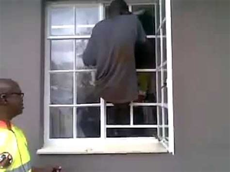 interior homes burglar climbs through burglar bars with ease