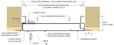 standard metal door access panel concealed frame