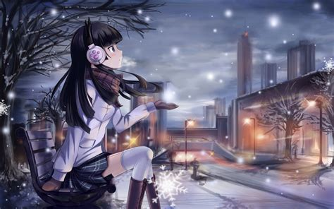 Anime Wallpapers Winter - beautiful winter anime pictures digiatto hd