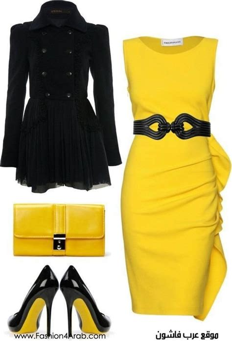 Yellow and black outfit   Yellow and Black   Pinterest