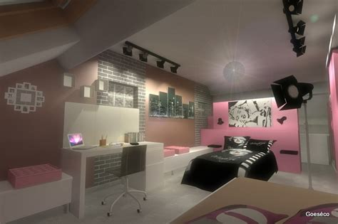 chambre ado fille 16 ans moderne chambre d 39 ado sur le thème du cinéma déco fille
