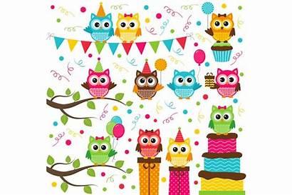 Owl Clipart Party Birthday Clip Happy Digital