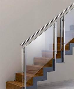 Treppengeländer Mit Glas : holz glas edelstahl treppe pinterest treppe treppengel nder und handlauf ~ Markanthonyermac.com Haus und Dekorationen