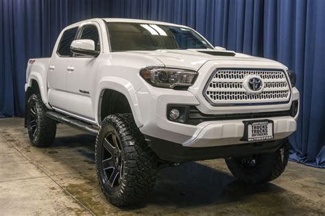 lifted  toyota tacoma trd sport  truck