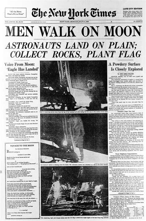 New York Times Moon Landing