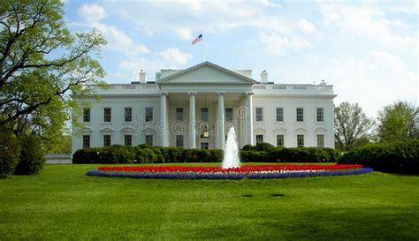 het witte huis in amerika het washington dc het witte huis stock foto