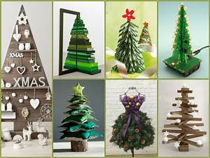 Weihnachtsbaum Selber Bauen : tannenbaum basteln 30 kreative diy ideen f r weihnachtsbasteln ~ Orissabook.com Haus und Dekorationen
