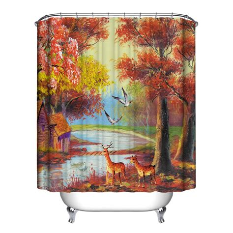 Waterproof Shower Curtains by Waterproof Shower Curtain Hooks Peva Polyester Fabric