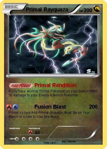 pokemon primal rayquaza   primal rendition