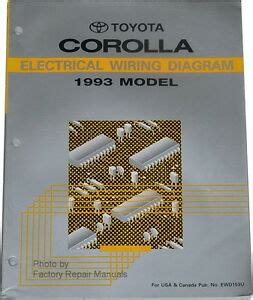 Toyotum Corolla Electrical Wiring by 1993 Toyota Corolla Electrical Wiring Diagrams Original