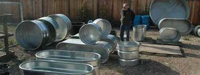Galvanized Horse Trough Bathtub by Make A Solar Tub In One Day For 300