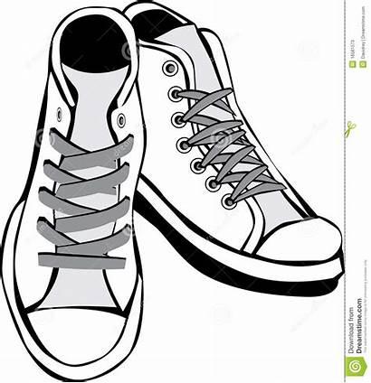 Shoes Clipart Clip Tennis Chucks Canvas Drawing