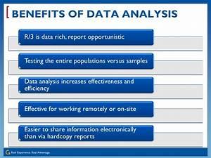 Continuous Auditing, Monitoring & Data Analytics