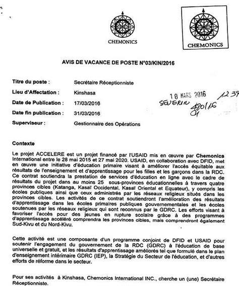 offre d emploi secretaire comptable secr 233 taire r 233 ceptionniste