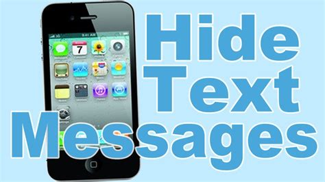 hide text messages iphone how to hide text messages on iphone