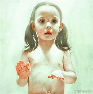 girl watercolor painting by ali cavanaugh 9