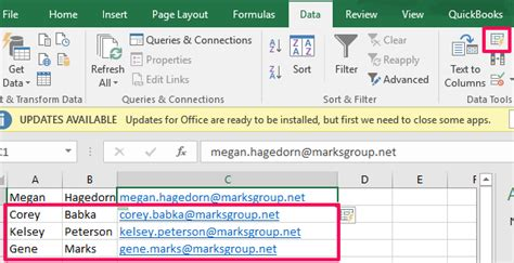 Office 365 Mail Merge by Office 365 Excel Flash Fill The Marks Small