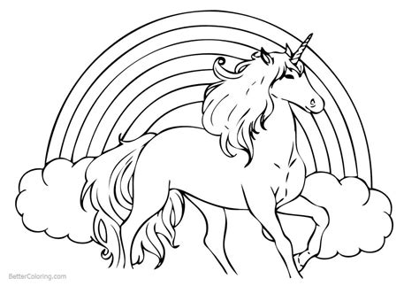 Free Printable Rainbow Coloring Pages For Rainbow Unicorn Coloring Pages Free Printable Coloring Pages