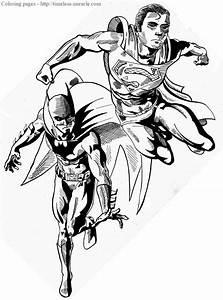 Free superman batman coloring pages