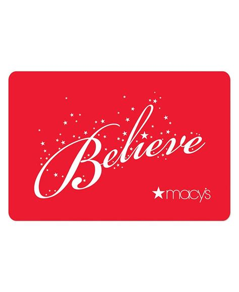 Send online gift cards via email for free. Macy's Believe E-Gift Card & Reviews - Gift Cards - Macy's