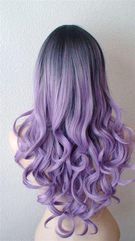 light purple hair dye dark roots pastel lavender wig light purple long by