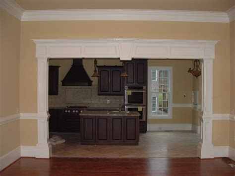 interior house trim like the boxed moldings on the section and the look