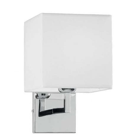 square wall light in polished chrome finish rs robertson