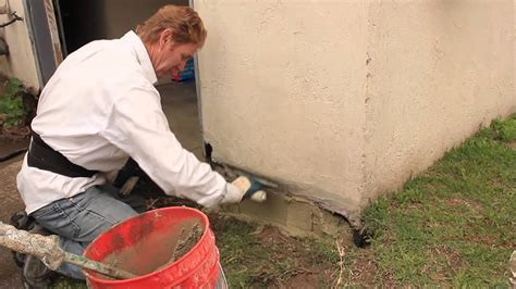 foundation repairs  stucco   cement plaster youtube