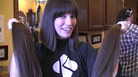 Long Hair Brunette Bob Haircut