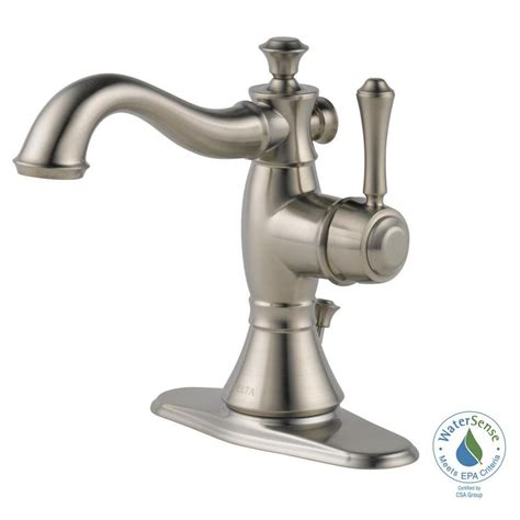 delta cassidy single hole single handle bathroom faucet
