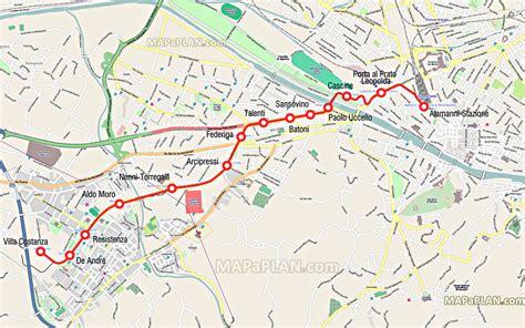 florence map tram stops   city center  tramvia