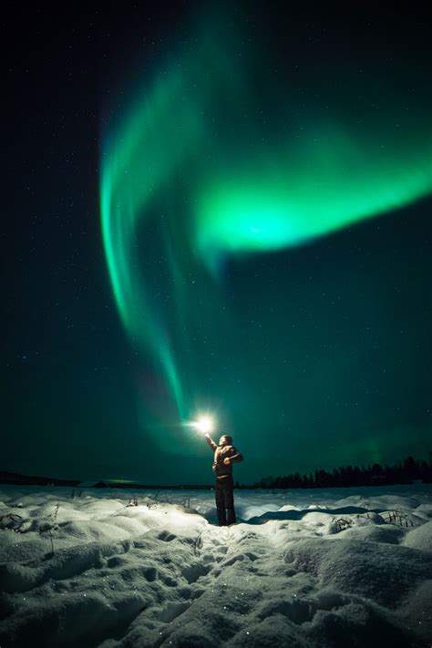northern lights photography  aurora selfie snapper