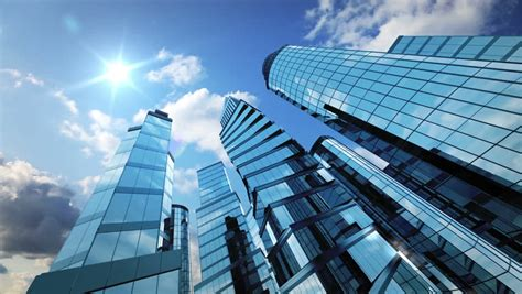 business background skyscrapers  running stock footage