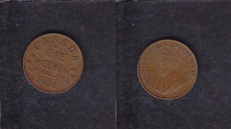 1924 Canada 1 Cent Coin