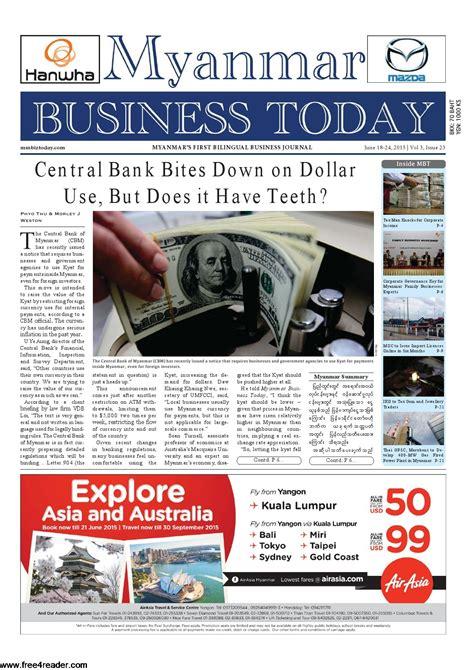 Free 4 Reader - Myanmar Business Today Journal Journal