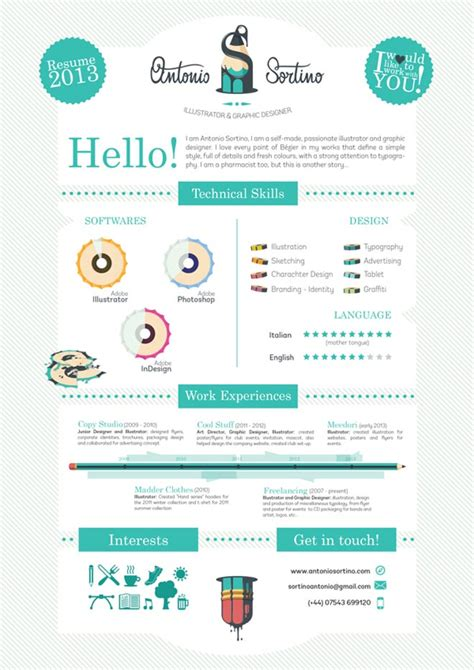 25 creative and simple resume exles