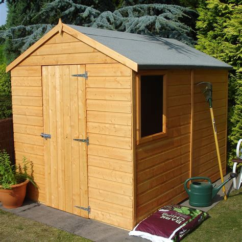 Shiplap Garden Sheds - 8x6 durham apex shiplap wooden shed departments diy at b q
