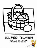 Easter Basket Coloring Pages Egg Baskets Yescoloring Boys Colour Handsome sketch template