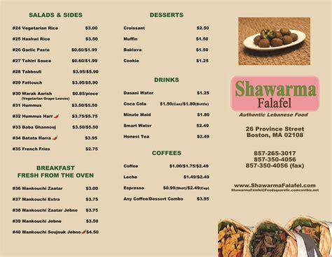 cuisine menu lebanese food menu
