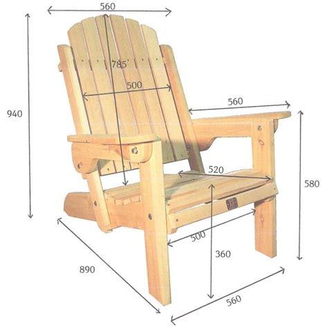 plan chaise de jardin en palette fauteuil adirondack pliant de jardin en bois muskoka