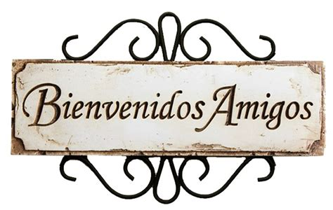 Spanish Welcome Friends Sign Bienvenidos Amigos Item 589d
