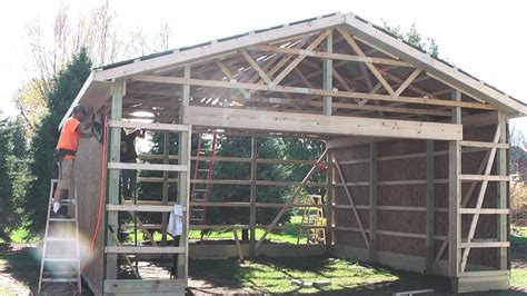 pole shed plans diy pole barns shed garage construction lp smartside