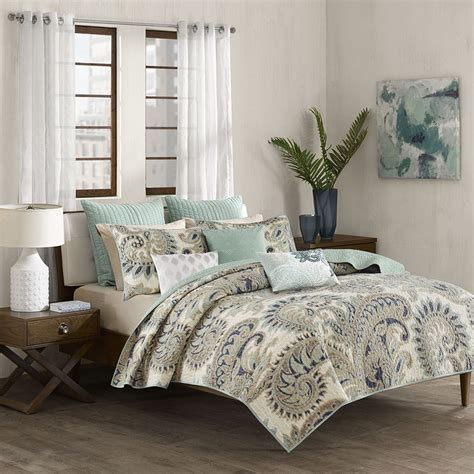 Bedroom Coverlets by Mira Blue Coverlet By Ink Bedding